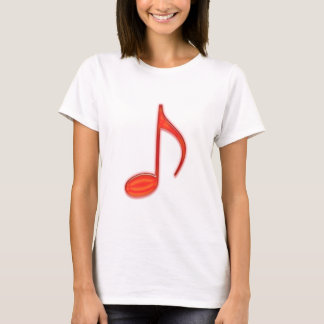 8th Note Large Red Plastic 2010 T-Shirt