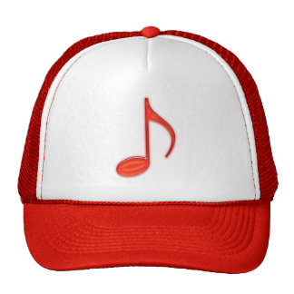 8th Note Large Red Plastic 2010 Trucker Hat