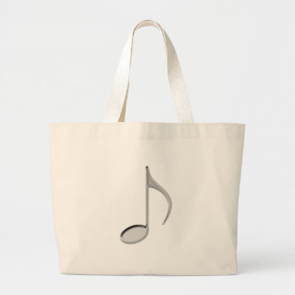 8th Note Negative Large 2010 Jumbo Tote Bag