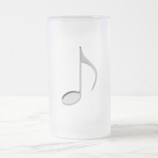 8th Note Negative Large 2010 Frosted Glass Beer Mug