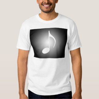 8th note on square & Circle background w/spotlight T-shirt