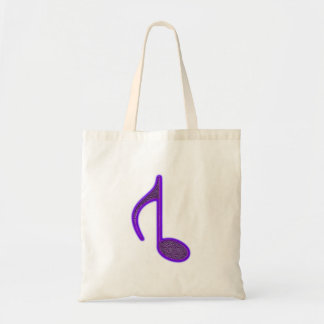 8th Note Reversed Large 2010 Budget Tote Bag