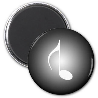8th Note Reversed Large 2 Inch Round Magnet