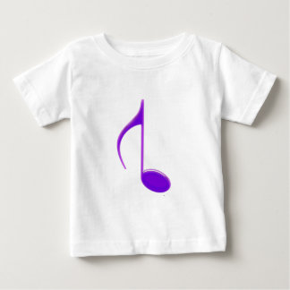 8th Note Reversed Purple Cracked 2010 Large Baby T-Shirt