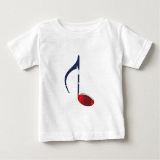 8th Note Reversed U.S. Flag Baby T-Shirt