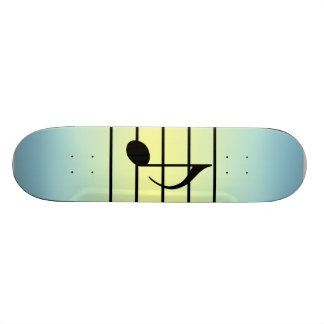 8th note skateboard deck