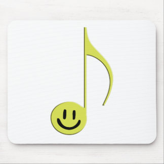 8th Note Smiley Face Mouse Pad
