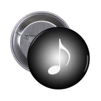 8th Note Spot Light Music Tools Pinback Button