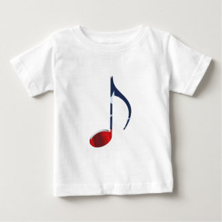 8th Note US Flag Baby T-Shirt