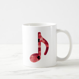 8th Note With Hearts Inside Of Design Coffee Mug