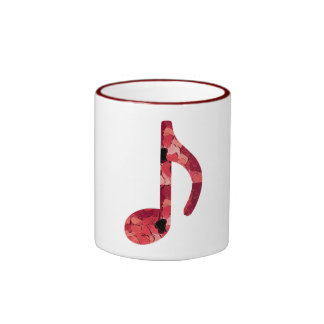 8th Note With Hearts Inside Of Design Ringer Mug
