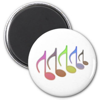 8th Notes Reversed Small 2 Inch Round Magnet