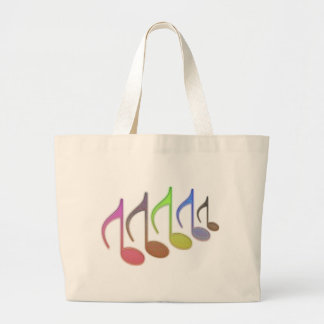 8th Notes Reversed Small Multi-colored Jumbo Tote Bag