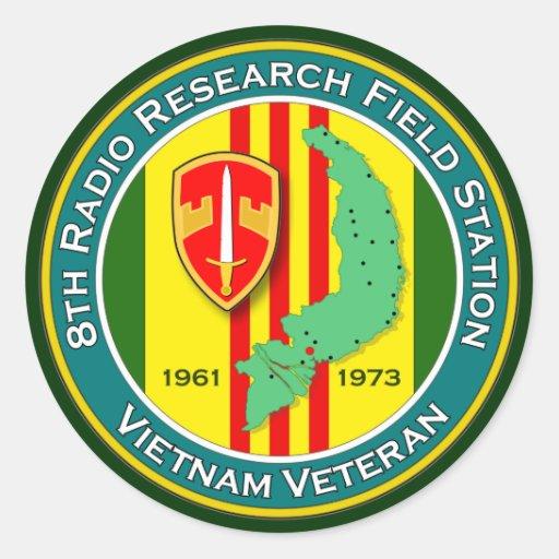 8th RRFS 1 - ASA Vietnam Classic Round Sticker