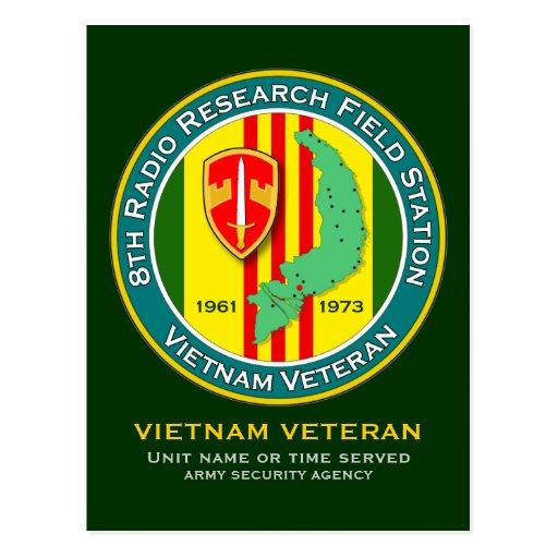 8th RRFS 1 - ASA Vietnam Postcard