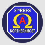 8th RRFS 1s Round Sticker