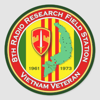 8th RRFS 2 - ASA Vietnam Classic Round Sticker