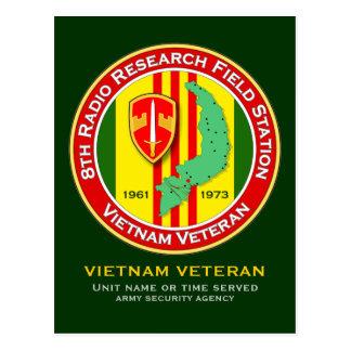 8th RRFS 2 - ASA Vietnam Postcard