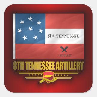 8th Tennessee Artillery Square Sticker