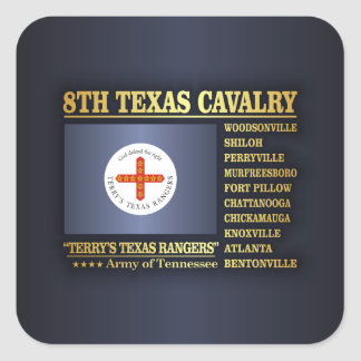 8th Texas Cavalry (BA2) Square Sticker
