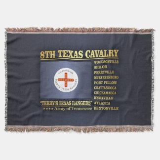8th Texas Cavalry (BA2) Throw Blanket
