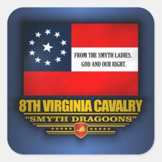 8th Virginia Cavalry (Smyth Dragoons) Square Sticker