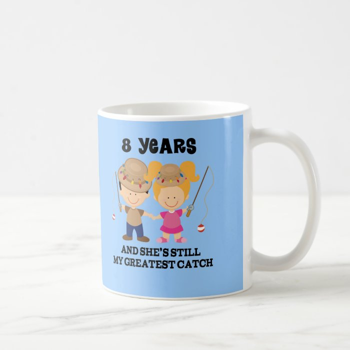 8th Wedding Anniversary Gift For Him Coffee Mug