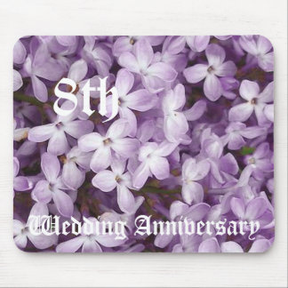 8th wedding anniversary - Lilac Mouse Pad