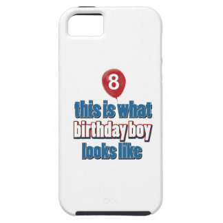 8th year birthday designs iPhone 5 cases