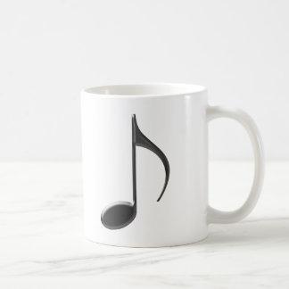 8va nota de la música del negro flaco sobre el fon taza de café