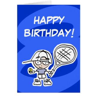 8va tarjeta de cumpleaños de los niños con el