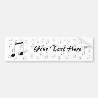 8vas octavas notas de la música pegatina para auto
