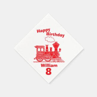 8vas servilletas nombradas del cumpleaños de los servilleta de papel