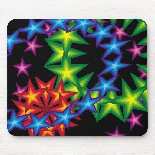 8vivid stars circles mouse mat