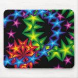 8vivid stars circles mouse pad