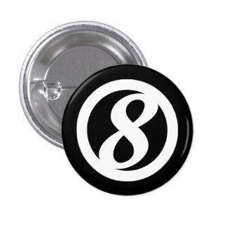 8vo Botón del círculo Pins