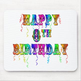 8vo camisetas del cumpleaños, tazas del cumpleaños alfombrilla de ratón