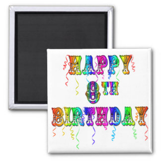 8vo camisetas del cumpleaños tazas del cumpleaños iman