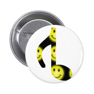 8vo Cara feliz invertida Pin