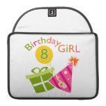 8vo cumpleaños - chica del cumpleaños fundas para macbook pro