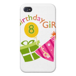 8vo cumpleaños - chica del cumpleaños iPhone 4 carcasas