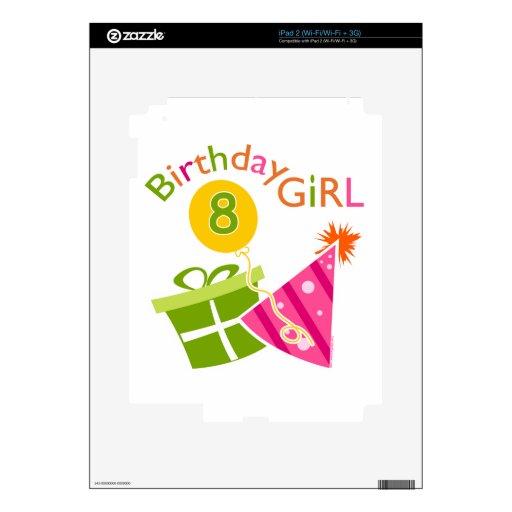 8vo cumpleaños - chica del cumpleaños skins para eliPad 2
