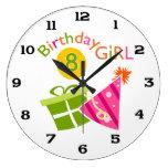 8vo cumpleaños - chica del cumpleaños reloj de pared
