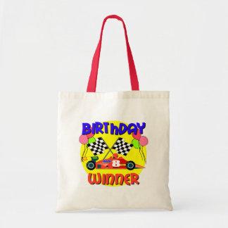 8vo Cumpleaños del coche de carreras del cumpleaño Bolsas