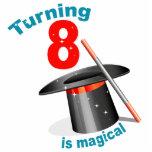 8vo cumpleaños del fiesta mágico escultura fotográfica