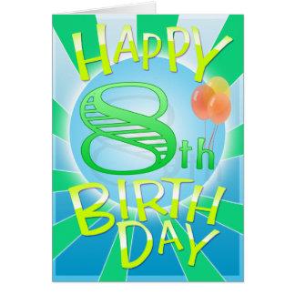 8vo cumpleaños feliz tarjeta de felicitación