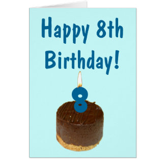 ¡8vo cumpleaños feliz! tarjeta