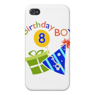 8vo cumpleaños - muchacho del cumpleaños iPhone 4 carcasa