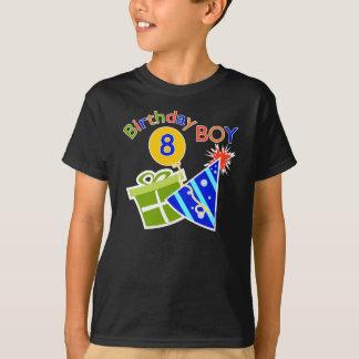 8vo cumpleaños - muchacho del cumpleaños playera