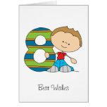 8vo cumpleaños - tarjeta de felicitaciones - mucha